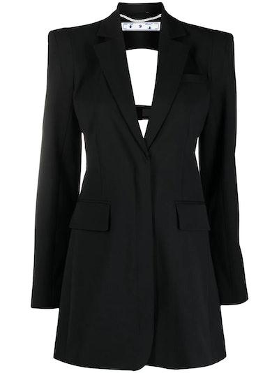 Cut-Out Blazer Dress