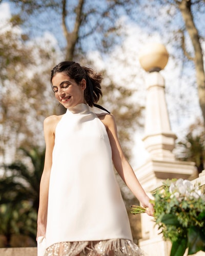 Model wears  Sophie et Voilà Daniela Dress.