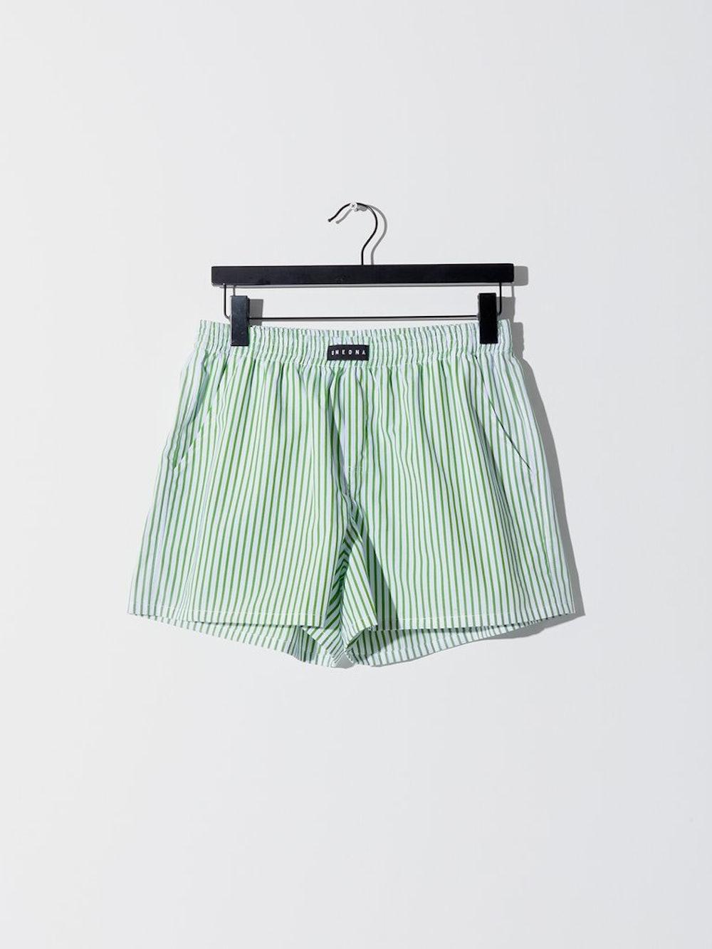 Resort Short in Green Stripe