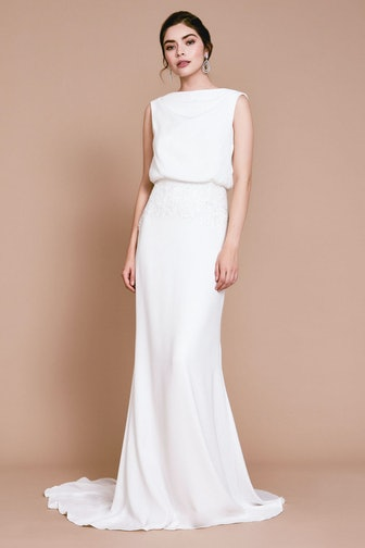 Lilo Back Drape Gown