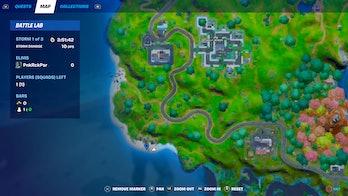 fortnite build sandcastle location 1 map