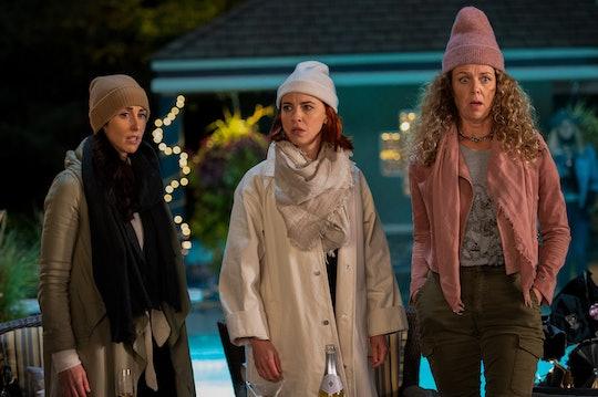 "Catherine Reitman, Dani Kind, and Juno Rinaldi star as Kate, Anne, and Frankie in Netflix's ""Working' Moms."""
