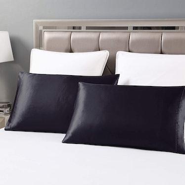 Love's cabin Silk Satin Pillowcase for Hair and Skin (2-Pack)