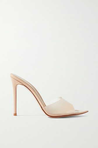 Elle 105 Patent-leather and PVC Mules