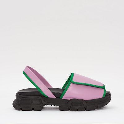 Violet Velcro Sporty Sandal