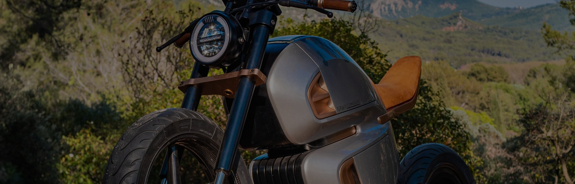 NAWA's Racer is a hybrid motorcycle that uses a supercapacitor to increase efficiency.
