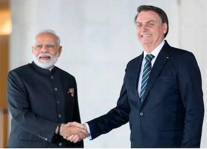 Brazilian president Jair Bolsonaro and Indian Prime Minister Narendra Modi are both accused of misha...