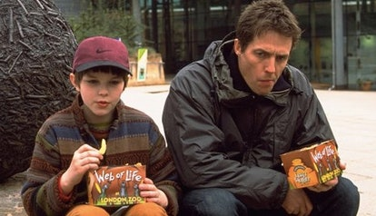 'About A Boy' is a British romantic comedy starring Hugh Grant and Nicholas Hoult