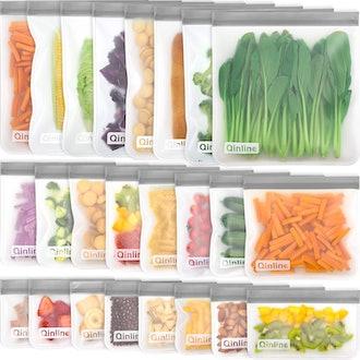 Qinline Reusable Food Storage Bags (24-Pack)