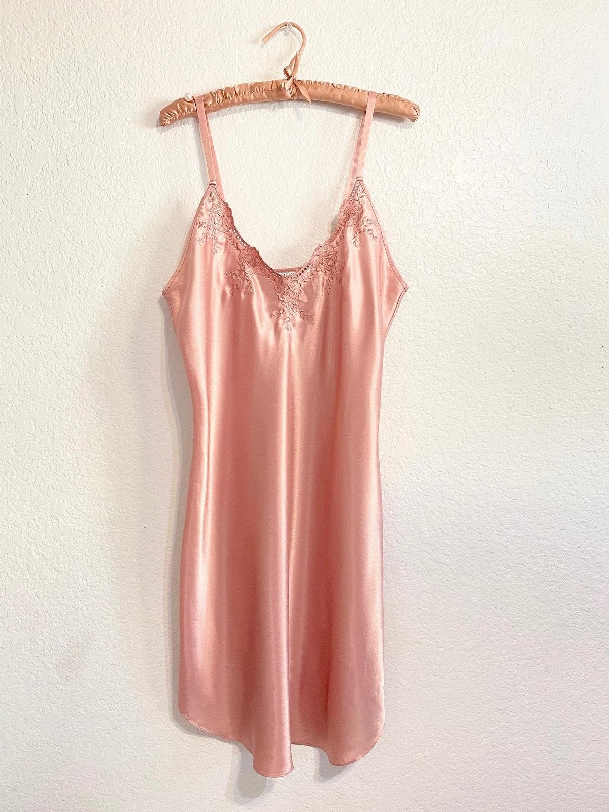 Vintage Erika Taylor Dusty Rose Slip Dress