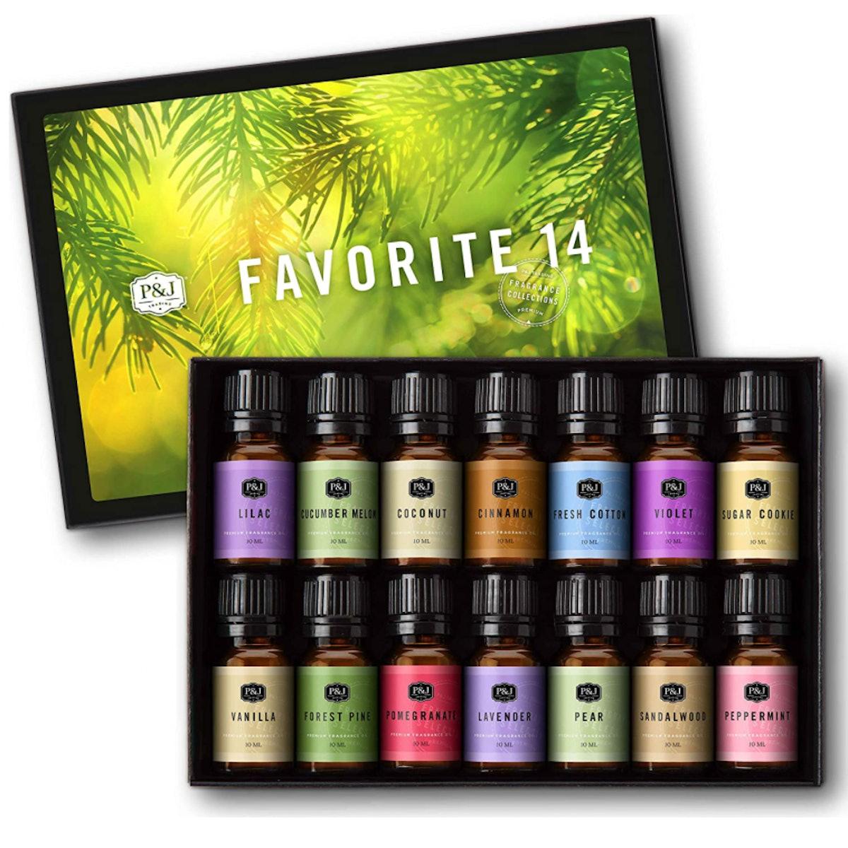 P&J Trading Favorites Fragrance Oils, 10ml (Set of 14)
