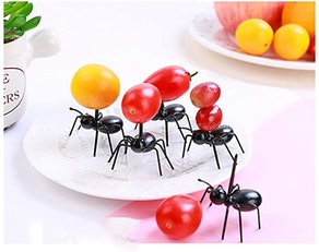 LBZE Lovely Mini Plastic Ants Fruit Toothpick