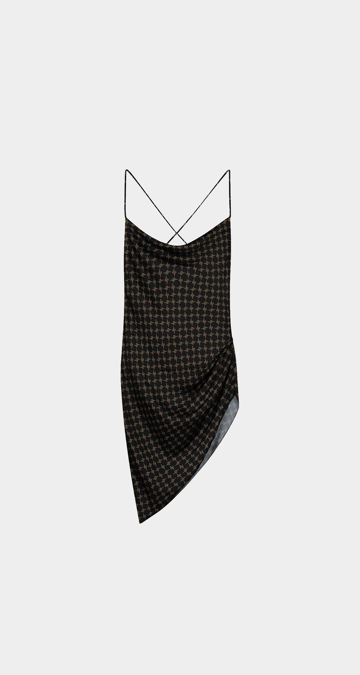 Black Monogram Remono Dress