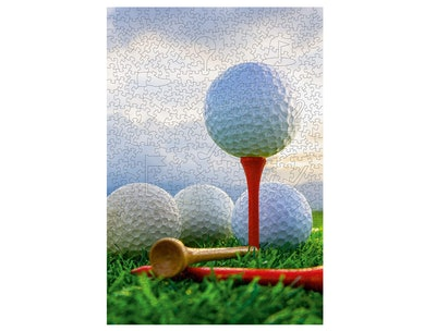 BasisWood Golf Lover's Wooden Jigsaw Puzzle