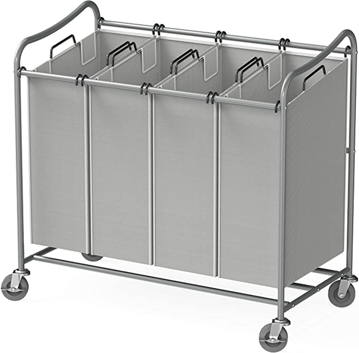 Simple Houseware Heavy-Duty 4-Bag Laundry Sorter Cart