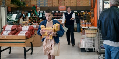 """In the first season of """"Stranger Things,"""" Eleven steals Eggo Waffles from a grocery store."""