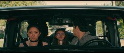 """In """"To All the Boys I've Loved Before,"""" Kitty lets Peter try her Yakult drink."""