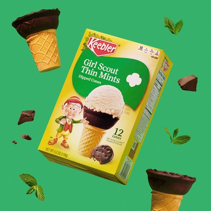 Keebler's Girl Scout Thin Mint Dipped Cones are the perfect treat for summer.