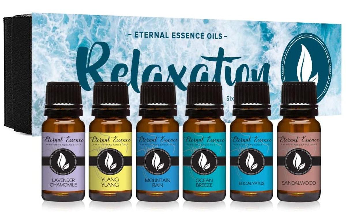 Eternal Essence Oils Relaxation Fragrance Oils, 10ml (Set of 6)