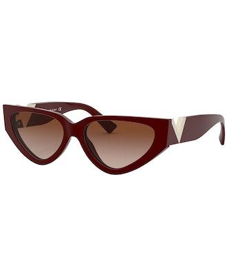 Cat-Eye Sunglasses in Bordeaux