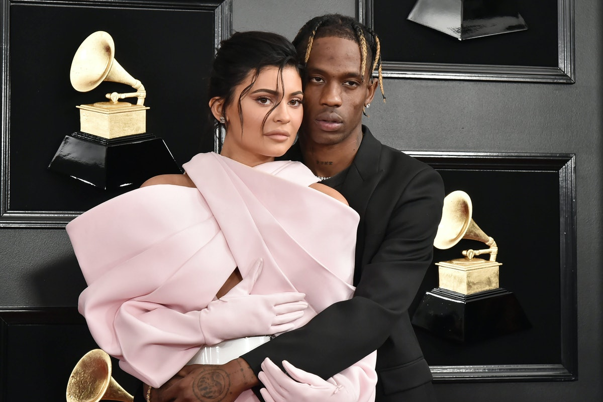 Kylie Jenner and Travis Scott at the Grammys.