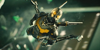 Yellowjacket flying through the suitcase in Ant-Man