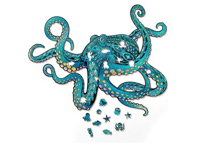 WoodGalaxy Store Octopus Wooden Jigsaw Puzzle