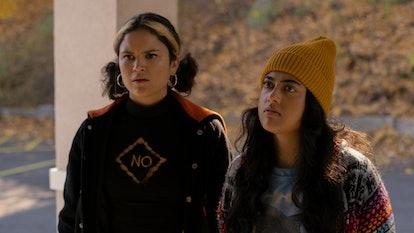 Victoria Moroles and Kuhoo Verma in 'Plan B.'