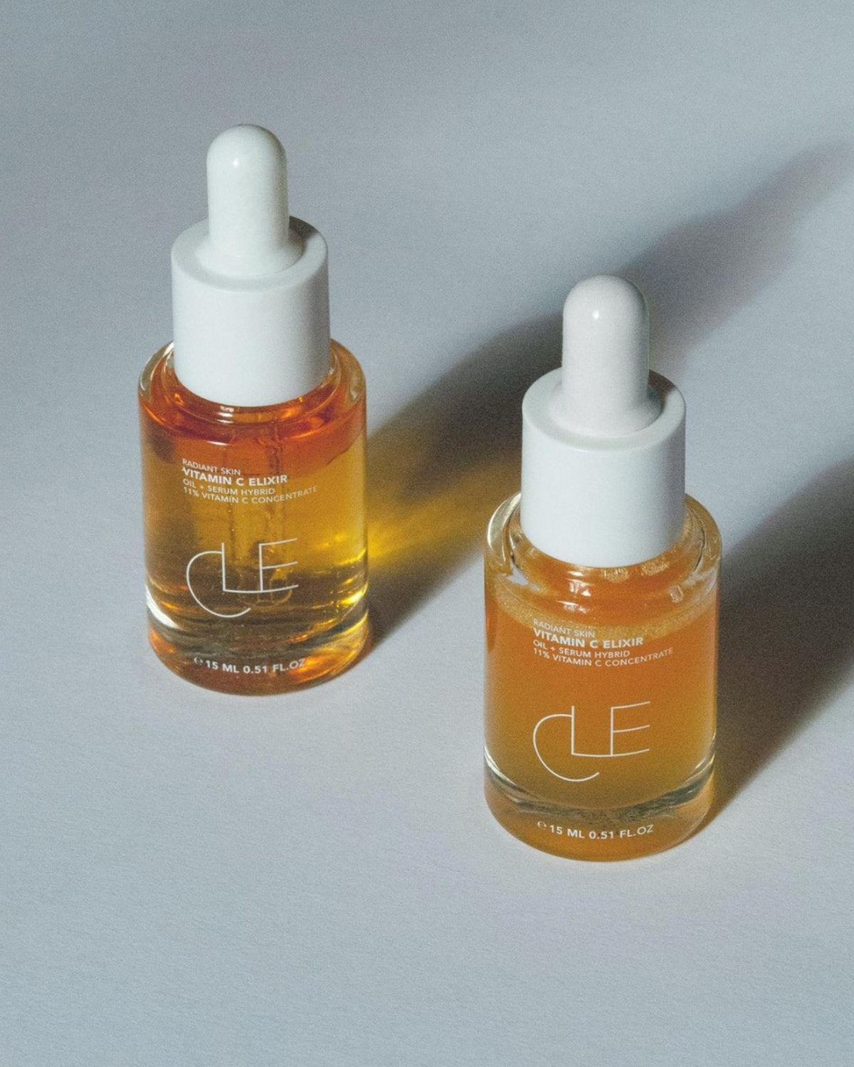 two cle cosmetics vitamin c serums
