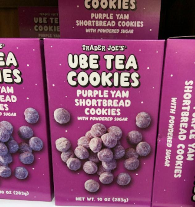 ube tea cookies