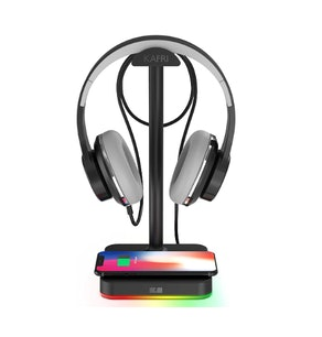 KAFRI RGB Headphone Stand with Wireless Charger