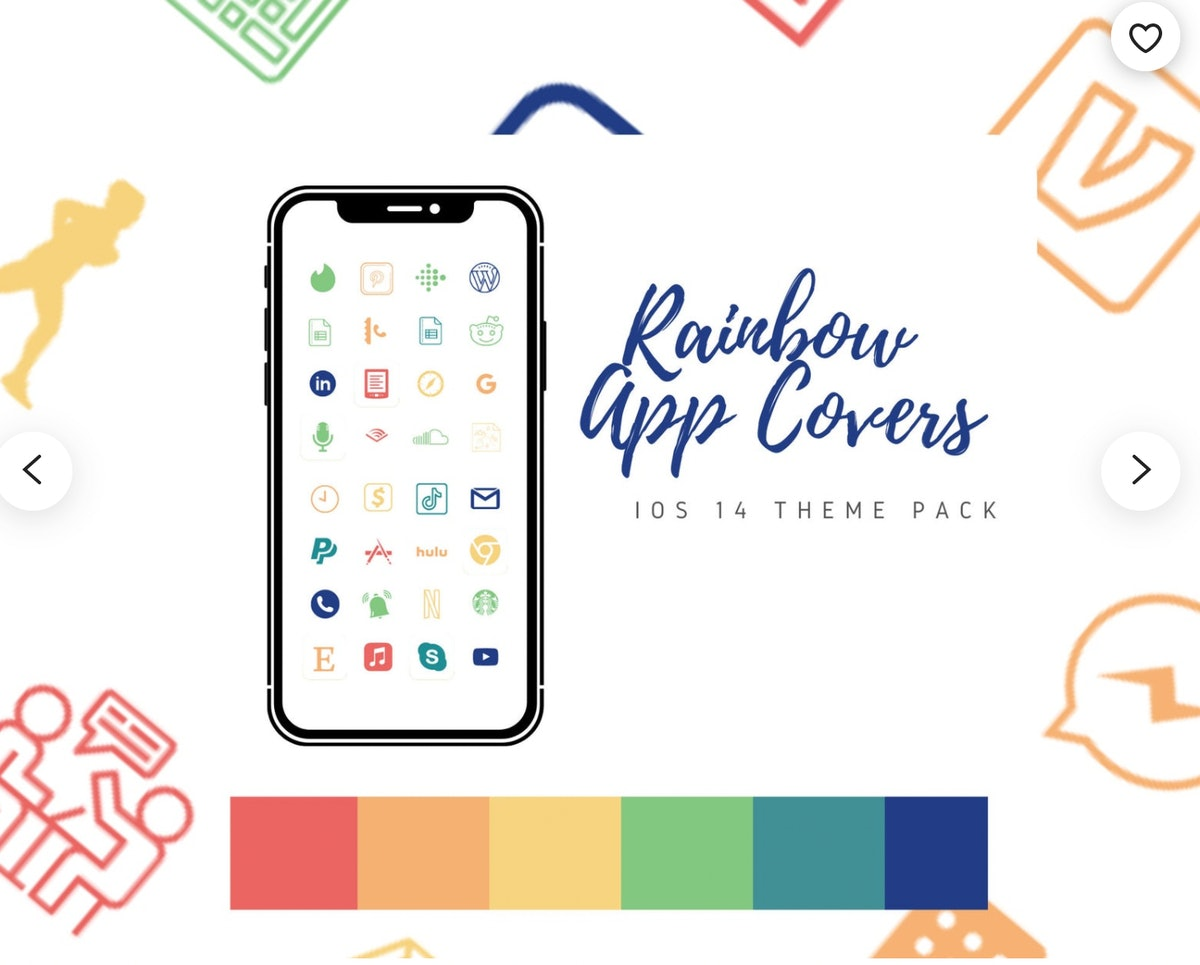 Rainbow Home Screen Icon Theme Pack