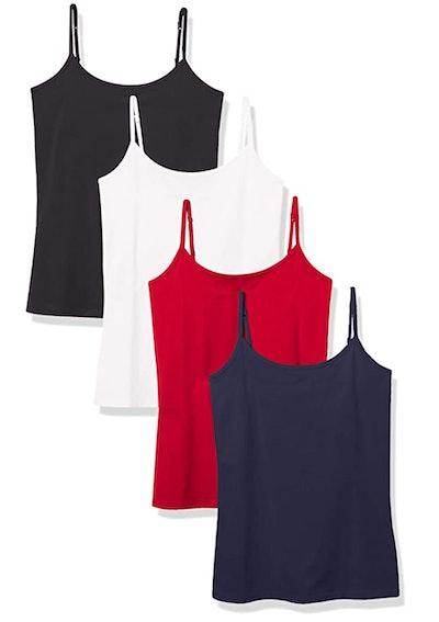 Amazon Essentials Slim-Fit Camisole (4-Pack)