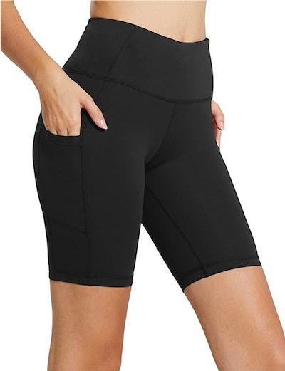 BALEAF High Waist Biker Shorts With Side Pocket