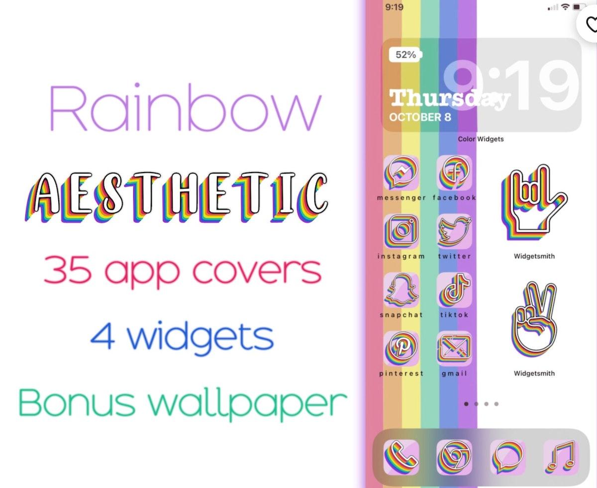Rainbow Aesthetic Icons