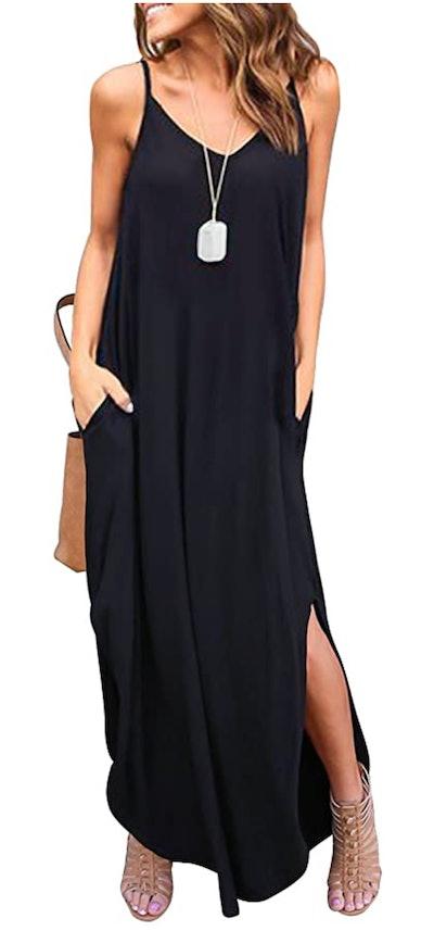 HUSKARY Sleeveless Maxi Dress