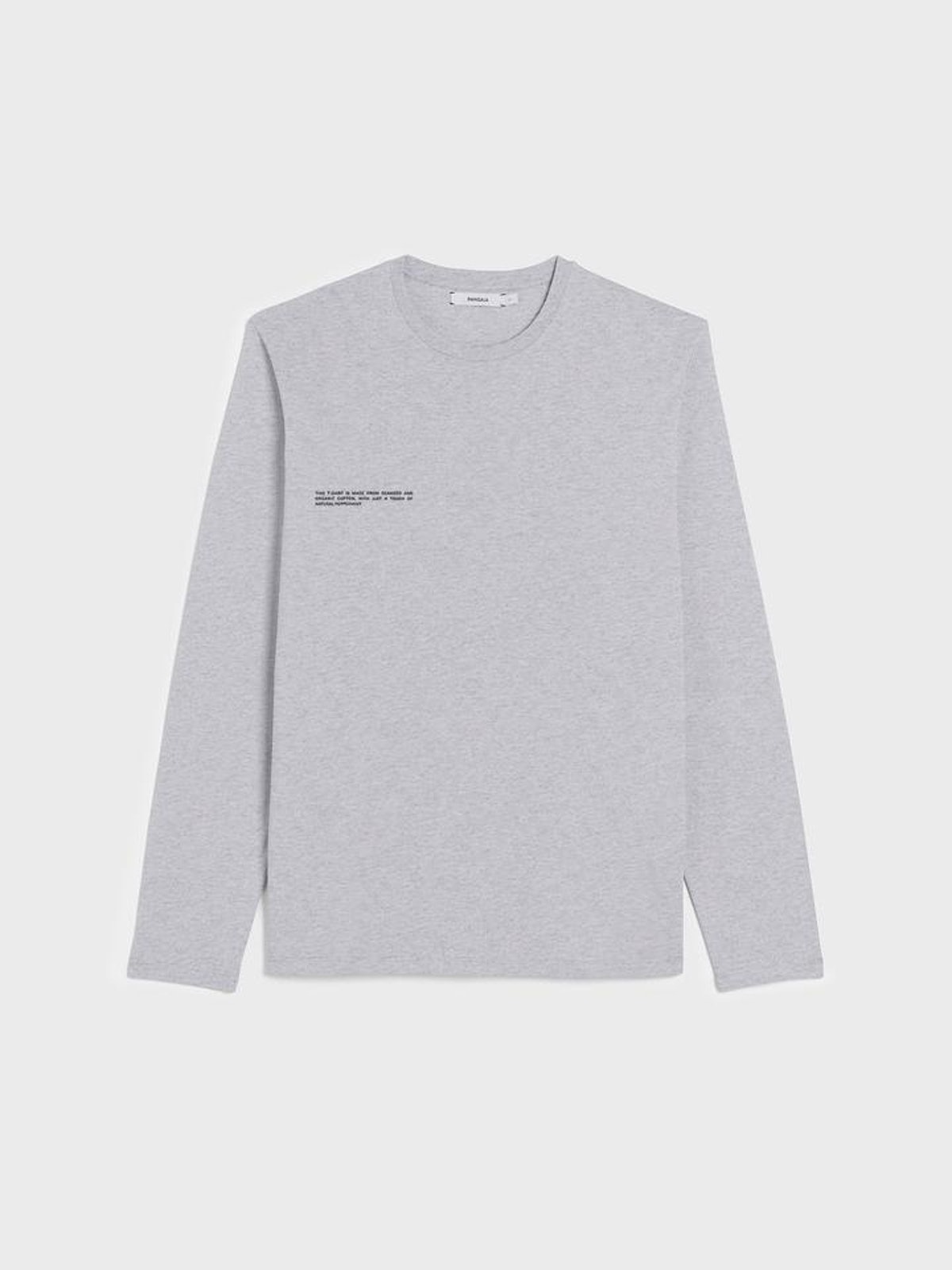 Organic cotton long sleeve t-shirt with C-FIBER