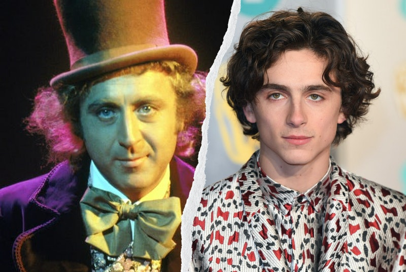 """Willy Wonka and Timothee Chalamet, who will play Willy Wonka in the """"Wonka"""" prequel."""