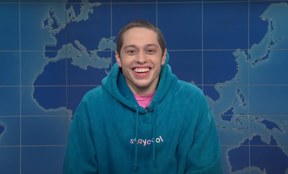 """Pete Davidson sparked rumors he may leave 'SNL' during a """"Weekend Update"""" segment on Season 46's finale."""