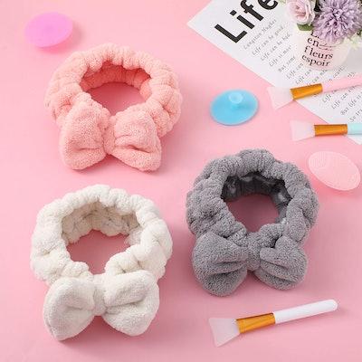 Patelai Microfiber Bowtie Headbands (3-Pack)