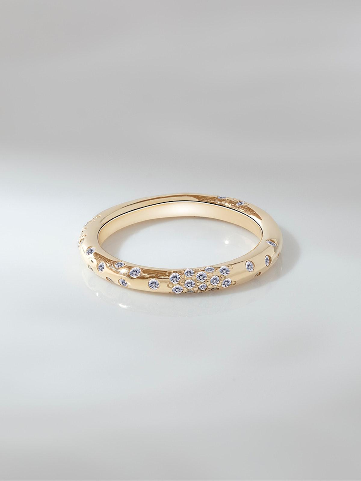 Dew Drop Brilliant Cut Diamond Eternity Wedding Ring II
