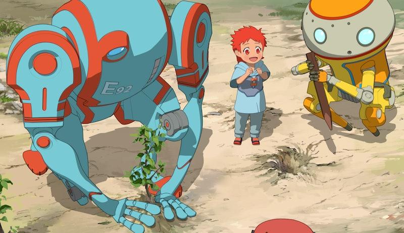 The robots in 'Eden,' via Netflix press site.