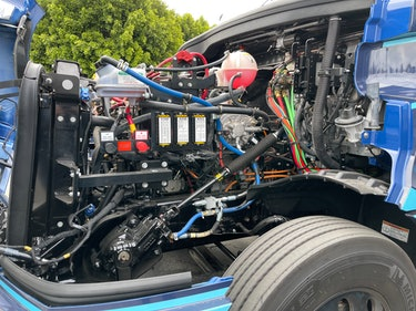 Under the hood of the Freightliner eCascadia