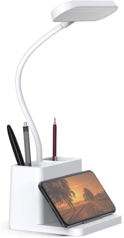 AXX LED Desk Lamp with Pen and Phone Holder