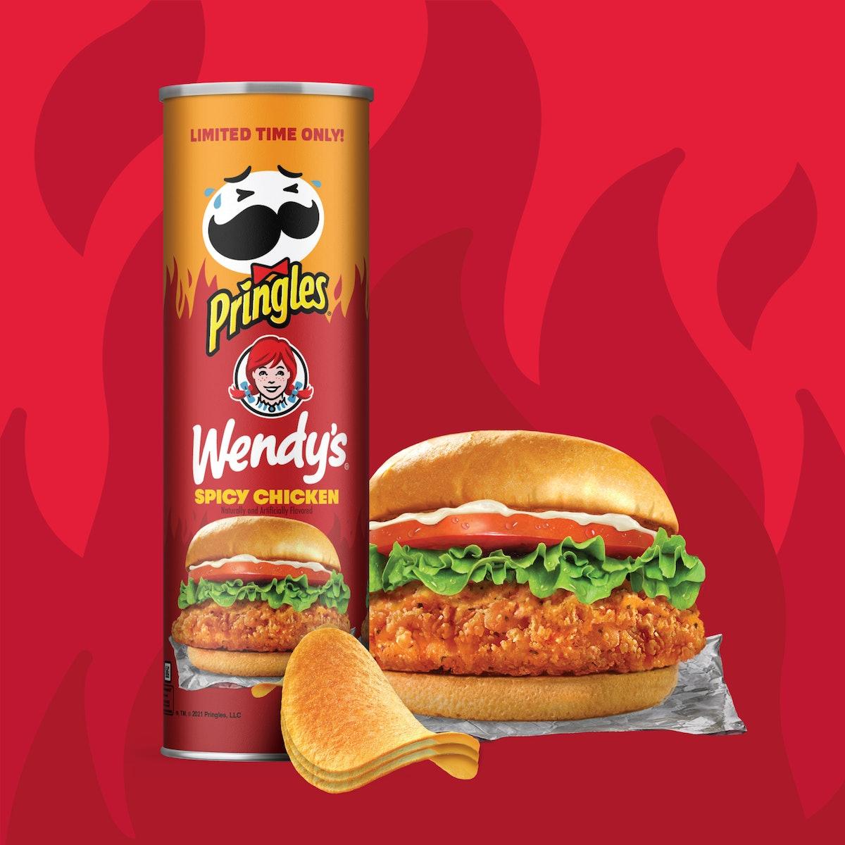 Pringles' new Wendy's Spicy Chicken Sandwich flavor is so fire.