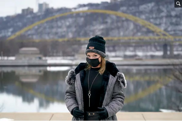Allissa Star, seen here in Pittsburgh in February 2021, used to be an in-person sex worker at a legal brothel in Nevada, but pandemic closures left her struggling to pay bills and turning to online sex work.