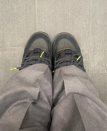 "Janthony Oliveras wearing Bad Bunny x Adidas Forum Low ""Core Black"""