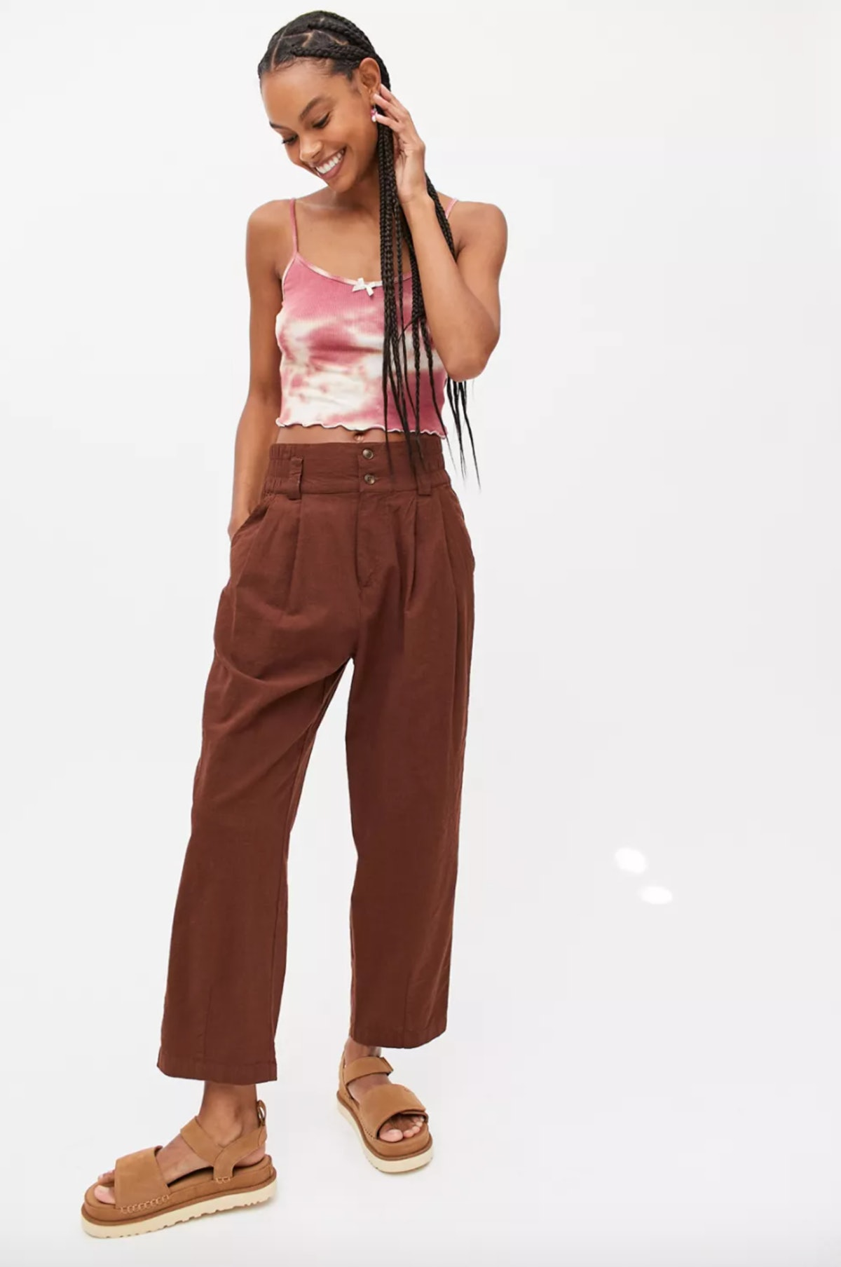 UO Sloane Linen Tapered Pant