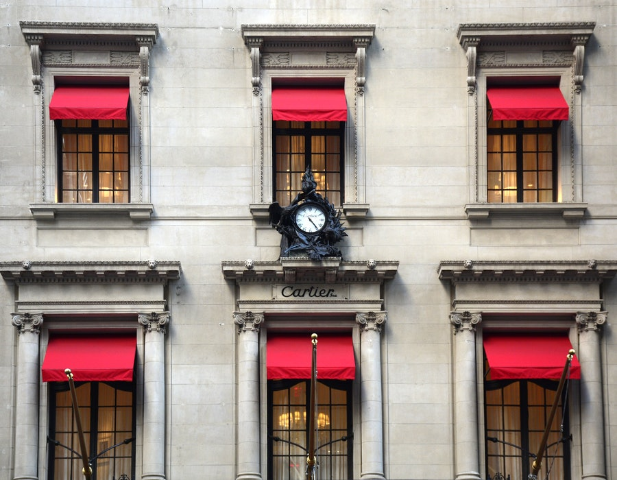 The historic Cartier building in New York City.