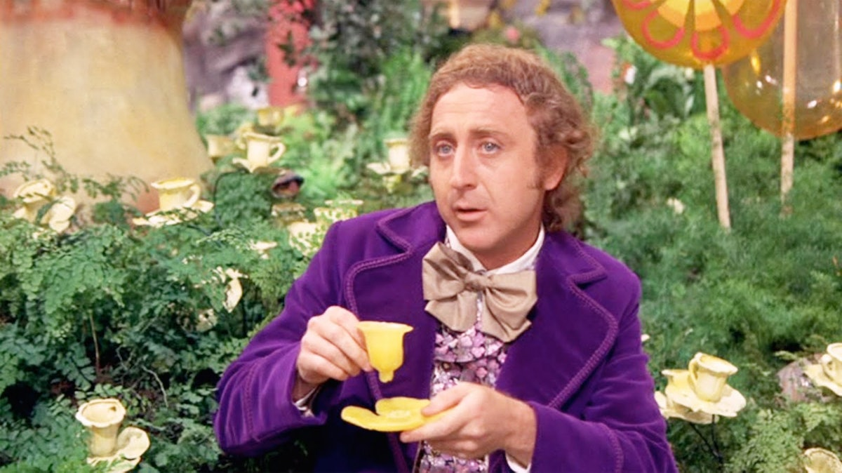 Gene Wilder as the original Willy Wonka in Willy Wonka and the Chocolate Factory